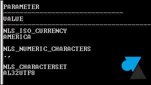 Oracle character set AL32UTF8 jeu caracteres