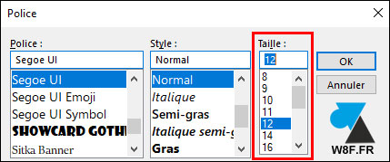 tutoriel Outlook agrandir taille liste mails messages