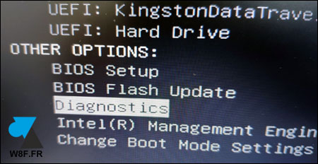 tutoriel Dell boot mode menu diagnostics