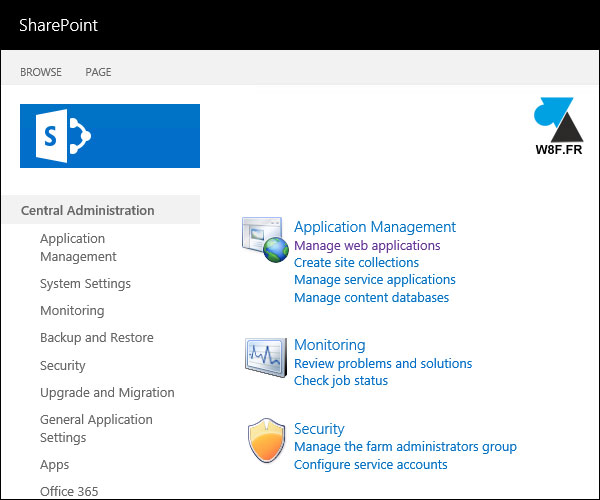 tutoriel SharePoint administration admin center