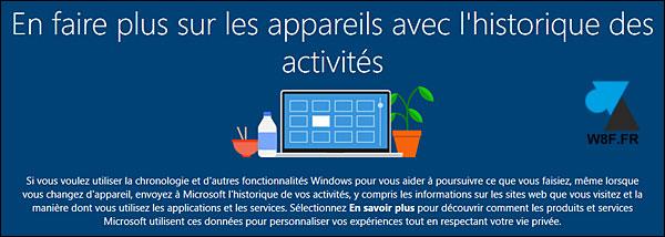 Windows10 historique activité
