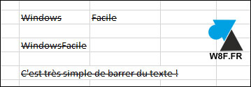 tutoriel Microsoft Office Excel texte barré barrer