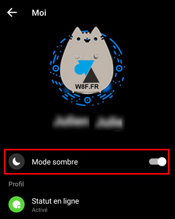 tutoriel Facebook Messenger noir dark sombre option Android iOS iPhone iPad