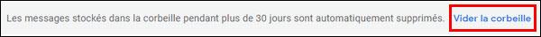 Gmail vider Corbeille