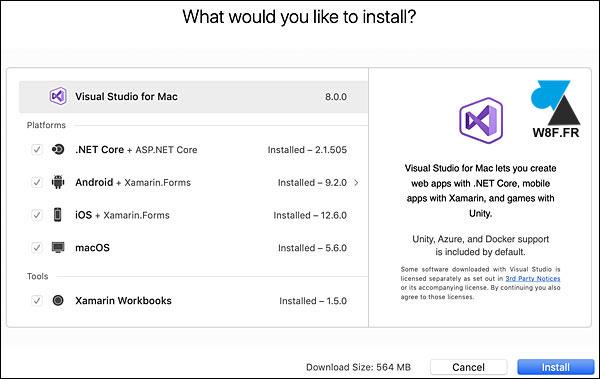 tutoriel telecharger installer Visual Studio Mac macOS Mac OS