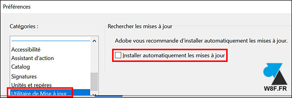 tutoriel desactiver mise a jour update Adobe Acrobat Reader Pro