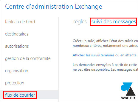 tutoriel Exchange Online Office 365 voir logs suivi des messages