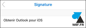 Microsoft Outlook Signature mail iPhone iOS iPad