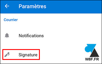 Microsoft Outlook Android Signature mail