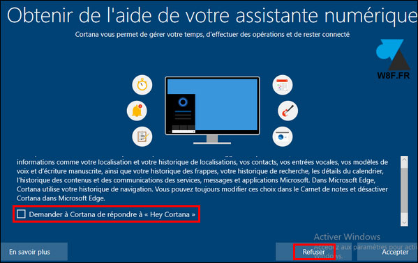 tutoriel Windows 10 1903 cortana
