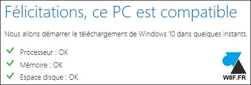Felicitations Windows 10 update mise a jour