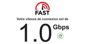 test connexion debit bande passante internet fast fast.com