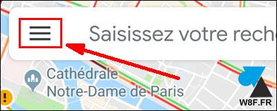 tutoriel Google Maps menu Android iOS iPhone