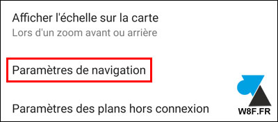 tutoriel Google Maps Paramètres Android iOS iPhone settings
