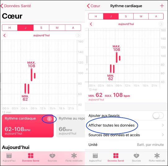 tutoriel supprimer données application Santé sante iOS iPhone iPad