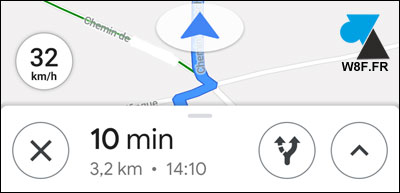 Google Maps afficher compteur vitesse Android iOS iPhone