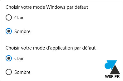 tutoriel Windows 10 mode application clair