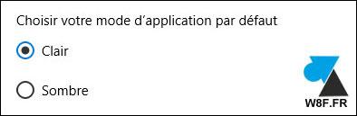 tutoriel Windows 10 mode application clair