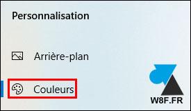 tutoriel Windows 10 Parametres Personnalisation Couleurs