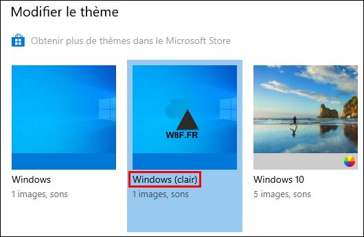 tutoriel Windows 10 personnalisation themes theme