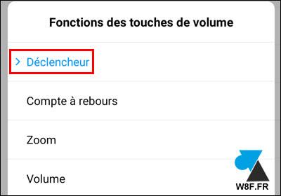 photo smartphone Xiaomi Mi touches volume déclencheur