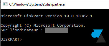 tutoriel diskpart windows 10 w10 cmd convert disk mbr gpt