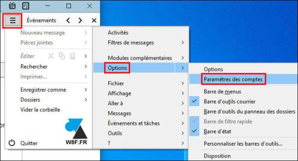 tutoriel Thunderbird parametre compte mail