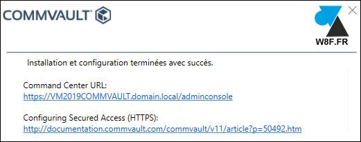 tutoriel installer Commvault sauvegarde