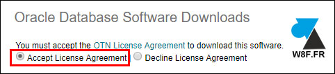 oracle accept license agreement contrat licence