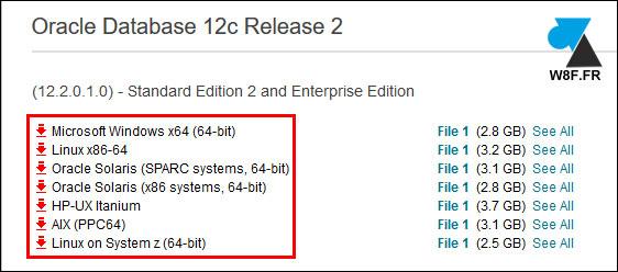telecharger gratuit Oracle Database 12c Oracle 12