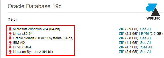 telecharger gratuit oracle database 19c oracle19 server sgbd