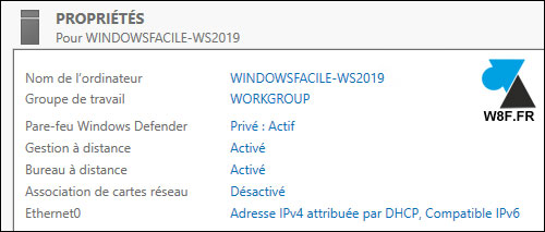 tutoriel configurer Windows Server 2019 gratuit