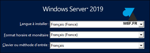 tutoriel installer Windows Server 2019