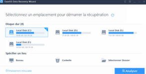 tutoriel EaseUS recuperation de donnees