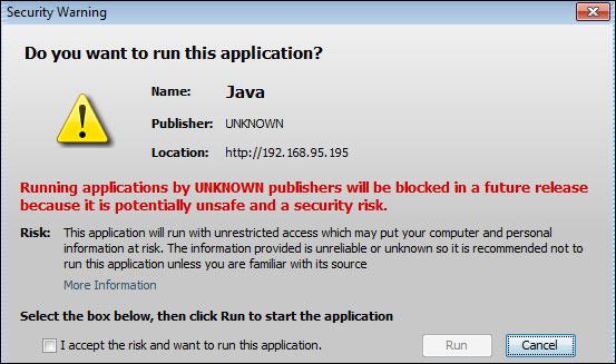 erreur sécurité Java