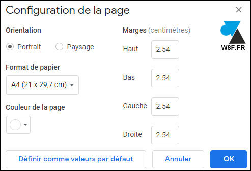 tutoriel Google Docs modifier marges document