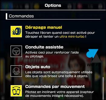 Mario Kart Tour options gameplay