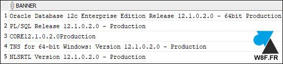 version Oracle 12c r1 12.1