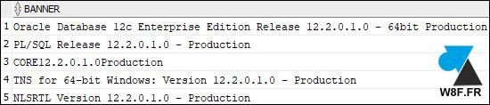 version Oracle 12c r2 12.2