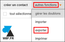 webmail Orange tutoriel exporter contacts