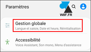 tutoriel reset Samsung Galaxy gestion globale