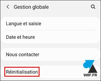 tutoriel reset Samsung Galaxy réinitialisation