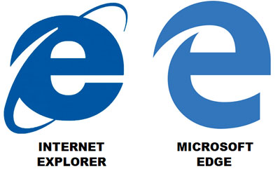 IE Internet Explorer logo Edge