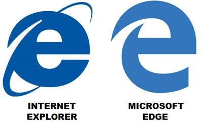 IE Internet Explorer logo Edge