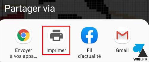tutoriel Android Partager Imprimer