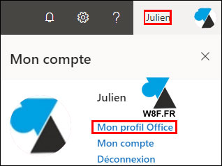 changer photo profil Office 365