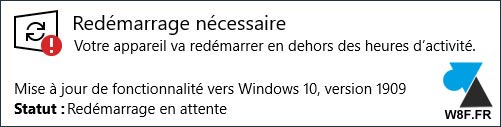 telecharger mise à jour Windows 10 1909 November 2019 update download free
