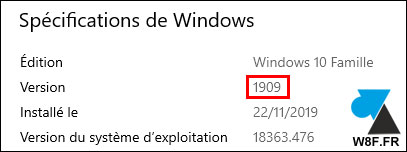 Windows 10 version 1909