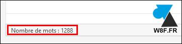 WordPress nombre de mots editeur classic word count