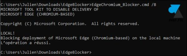 tutoriel bloquer Edge Chromium